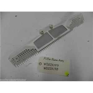 GE DISHWASHER WD22X149 WD22X138 FILTER FRAME USED PART ASSEMBLY
