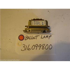FRIGIDAIRE STOVE  316099800  Ballast-lamp   USED PART
