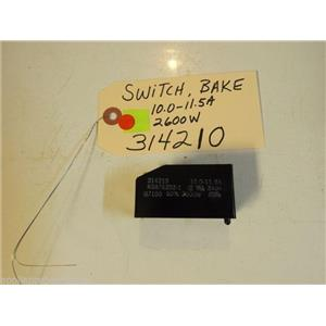 Whirlpool STOVE 314210  Switch, Bake 10.0-11.5A  2600W    USED