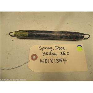 DISHWASHER WD1X1354 YELLOW 25.0 DOOR SPRING USED PART ASSEMBLY