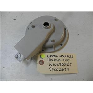 MAYTAG DISHWASHER W10296525 99002677 DISCHARGE HOUSING USED PART ASSEMBLY
