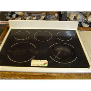 KENMORE STOVE 316456272  Cooktop Bisque  used part