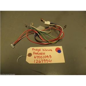 Kenmore REFRIGERATOR wiring Harness, Ff Module 67001043 12679901 USED PART