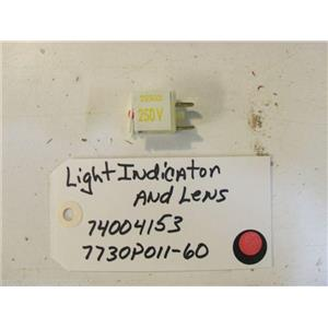 maytag STOVE 74004153 Light, Indicator  7730P011-60 Lens USED PART
