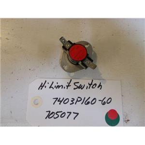 MAGIC CHEF STOVE 7403P160-60  705077  Switch, Hi-limit USED PART
