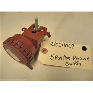MAYTAG WASHER 22004069 5 POSTITION LEVEL SWITCH USED PART ASSEMBLY