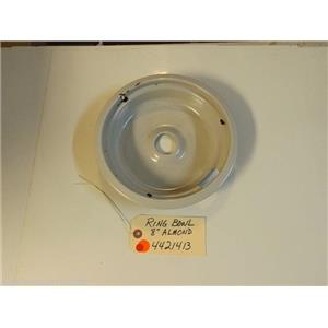 STOVE 4421413  Ring Bowl 8`` Almond Chips in finish   used part
