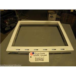 REFRIGERATOR 2172748 2223307 2223308 Crisper cover w/slide w/o glass