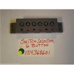 FRIGIDAIRE DISHWASHER 154368601  Switch-selector,6 Button  USED PART