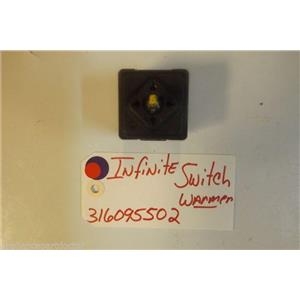 KENMORE STOVE 316095502  Infinite Switch  warmer   USED PART