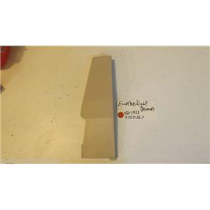 KITCHEN AID OVEN  4211933  9750367  End Cap (right Hand) (almond) used part