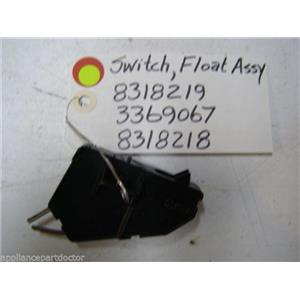 WHIRLPOOL DISHWASHER 8318219 3369067 8318218 SWITCH COVER HOUSING W/FLOAT SWITCH
