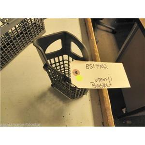 WHIRLPOOL DISHWASHER 8519702 SILVERWARE BASKET USED PART F/S