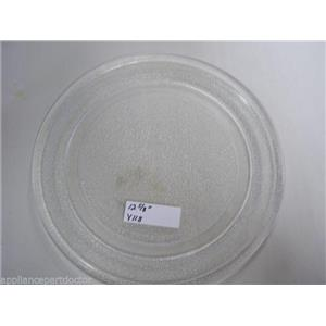 """12 5/8"""" MICROWAVE PLATE Y118 USED PART ASSEMBLY FREE SHIPPING"""