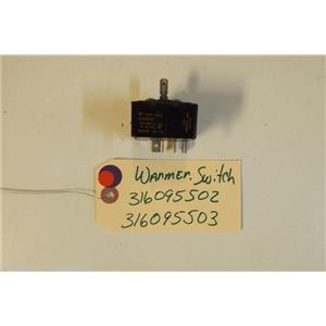 KENMORE STOVE 316095502   316095503   warmer switch   120vac  USED PART