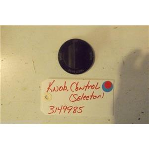WHIRLPOOL STOVE 3149985 Knob, Control (selector)  used part