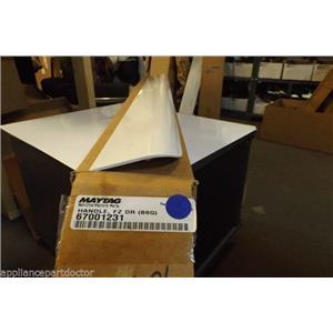 Maytag Amana refrigerator 67001231 Handle, Fz Door (bsq) white  NEW IN BOX