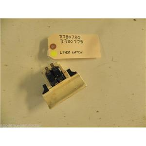 KENMORE DISHWASHER 3380780 3380778 LEVER LATCH USED PART ASSEMBLY F/S