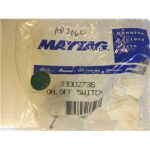 Maytag Dryer  33002736  On.off Switch   NEW IN BOX