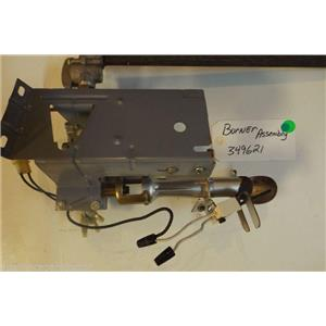 Whirlpool Dryer 349621  Burner assembly  used part