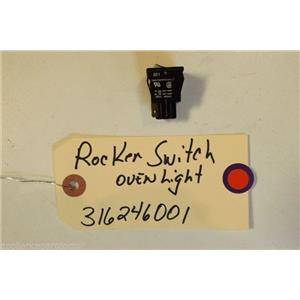 KENMORE STOVE 316246001  316448700  Range oven light rocker switch 2 prong used
