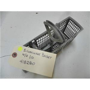 DISHWASHER 418280 SILVERWARE BASKET W/O LIDS USED PART ASSEMBLY