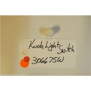AMANA Stove 306675W Knob, Light Switch  USED PART