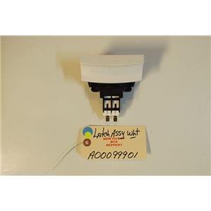 FRIGIDAIRE  DISHWASHER A00099901 Latch Assy,white   NEW W/O BOX
