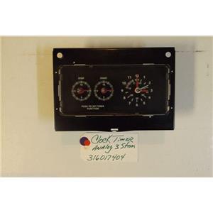 FRIGIDAIRE STOVE 316017404 316033203 Bracket-clock Mtg Clock/timer Analog 3 stem
