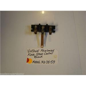 Model RD-38-59 Vintage Frigidaire Flair Stove Contact Block used