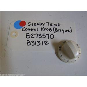KENMORE STOVE 8273570 831312 STEADY TEMP CONTROL KNOB (bisque)   USED