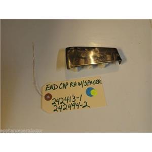 Kitchenaid DISHWASHER 242413-1  242494-2 End Cap RH W/Spacer NEW W/O BOX
