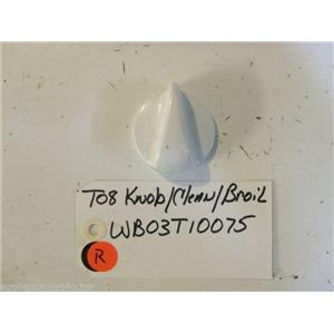GE STOVE WB03T10075   T08 A Knob  used part