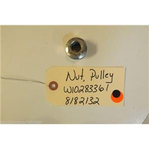 WHIRLPOOL Washer W10283361   8182132  Nut, Pulley   used part