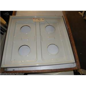 "MAYTAG GAS STOVE Y086959L MAIN SQ GRT TOP 24"" ALMOND USED PART ASSEMBLY"