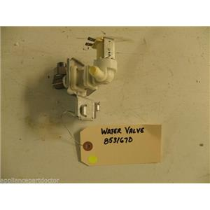 WHIRLPOOL DISHWASHER 8531670 FILL VALVE USED PART ASSEMBLY F/S