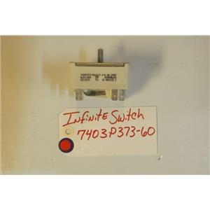 MAYTAG STOVE 7403P373-60   Infinite Switch 240v  5.2-6.6a  USED PART