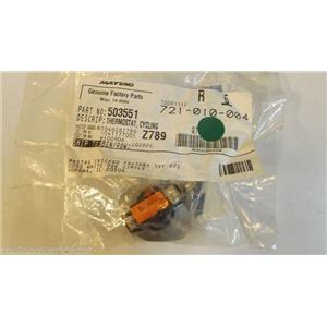 MAYTAG WHIRLPOOL DRYER 503551 3 wire cycling thermostat  NEW IN BAG