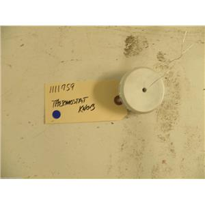 WHIRLPOOL REFRIGERATOR 1111759 THERMOSTAT KNOB USED PART ASSEMBLY