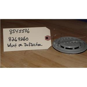 KITCHENAID DISHWASHER 8545536 8269260 VENT DEFLECTOR