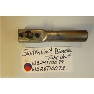 GE STOVE WB24T10079  WB2T10073  SWITCH LIMIT, BIMETAL TUBE VENT USED PART