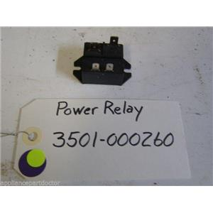 Samsung DISHWASHER Power relay 3501-000260  used part