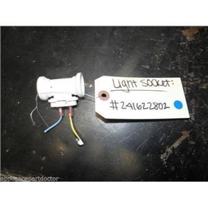 FRIGIDAIRE REFRIGERATOR 241622802 LAMP LIGHT SOCKET USED PART ASSEMBLY