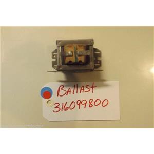 FRIGIDAIRE STOVE 316099800 Ballast  used part