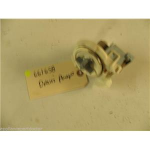 WHIRLPOOL DISHWASHER 661658 DRAIN PUMP USED PART ASSEMBLY F/S