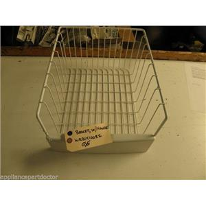 GE REFRIGERATOR WR21X10032 FREEZER BASKET LONG WITH HANDLE USED PART ASSEMBLY