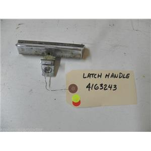 KITCHEN AID DISHWASHER 4163243 LATCH HANDLE USED PART ASSEMBLY
