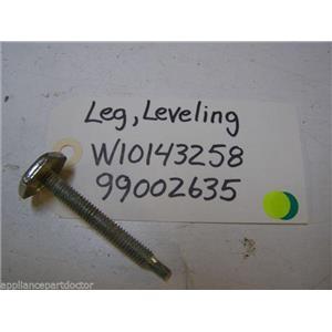MAYTAG DISHWASHER W10143258 99002635 LEVELING LEG USED PART ASSEMBLY