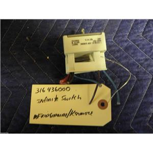 FRIDGIDAIRE KENMORE 316436000 INFINITE SWITCH SMALL BURNER USED PART F/S