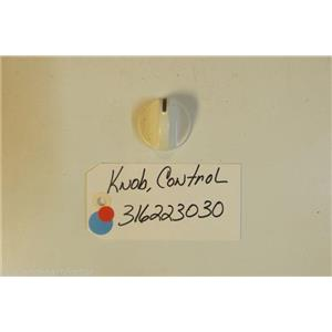 FRIGIDAIRE Stove  316223030 Knob,control ,white     USED PART